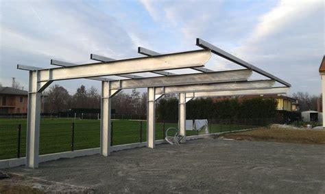 tettoia acciaio progetto strutturale di tettoia in acciaio con sbalzo di 5