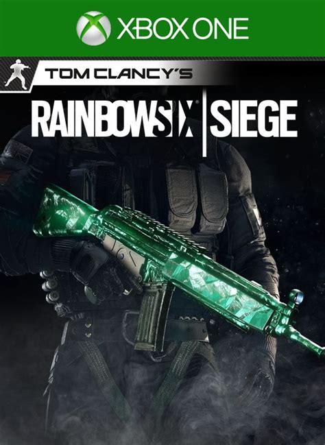 siege xbox one tom clancy s rainbow six siege emerald weapon skin for