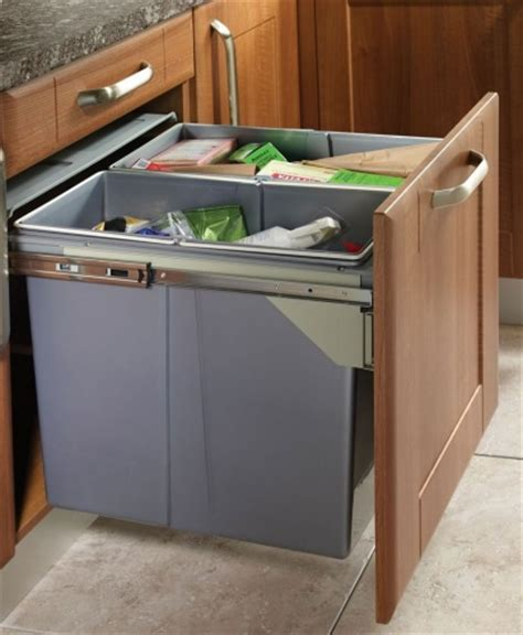 Kitchen Cabinet Connectors by Recycling Bins