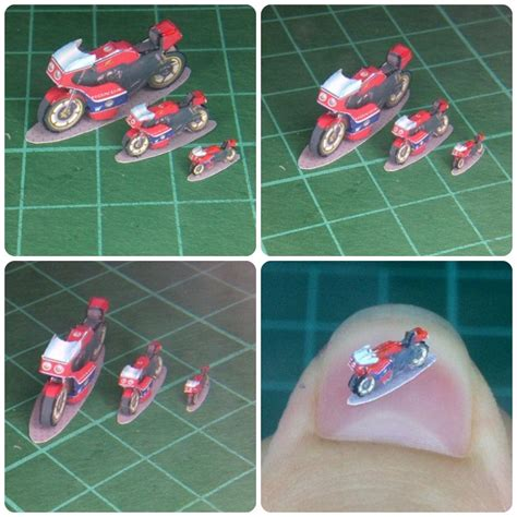 Motorcycle Papercraft - mini micro v per cb750 cafe motorcycle papercraft