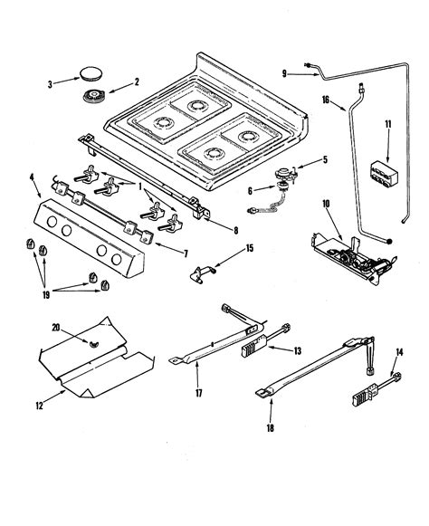 gas stove diagram amana agr5835qdq freestanding gas range timer stove