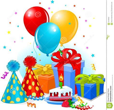 clipart auguri regali e decorazione di compleanno illustrazione
