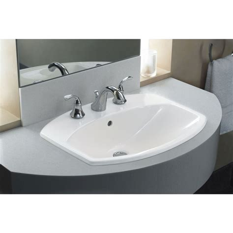 kohler drop in sinks kohler k 2351 8 0 cimarron white drop in single bowl