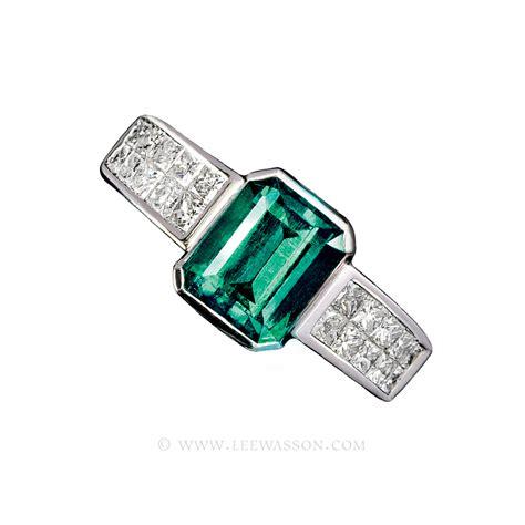 emerald ring emerald cut emerald set in 18k