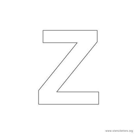 letter z template arial stencil letters uppercase stencil letters org