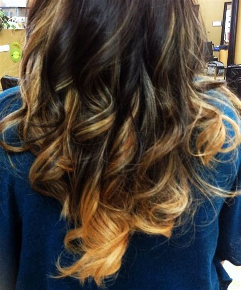 medium brown with blonde ombre ombre hair color technique with medium brown and blonde