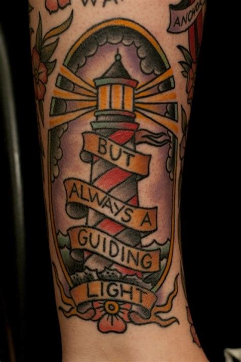 old school tattoo words tattoo old school traditional nautic ink lighthouse