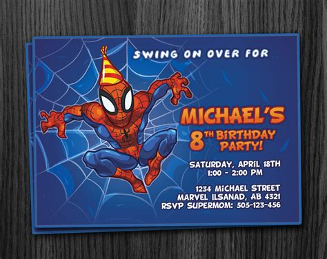 printable spiderman invitation cards spiderman birthday invitations gangcraft net