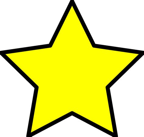 yellow star coloring page yellow star clip art clipart best