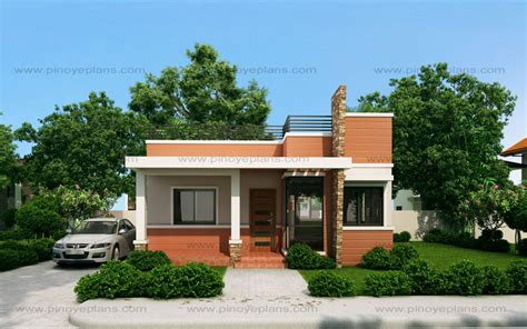 small house design rommell one storey modern with roof deck eplans