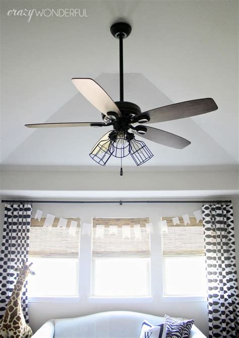 kids ceiling fans with lights crazy wonderful diy cage light ceiling fan someday