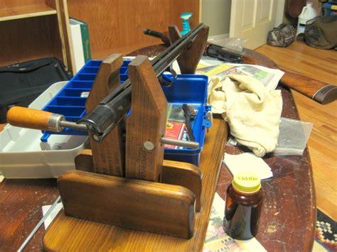 gun cleaning bench wingshot ritual