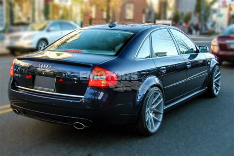 unpaint abs for audi a6 c5 sedan rs6 a style trunk spoiler wing 2004