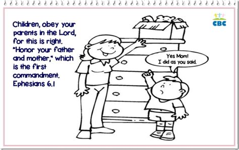Children Obey Your Parents Coloring Page free obey god word coloring pages