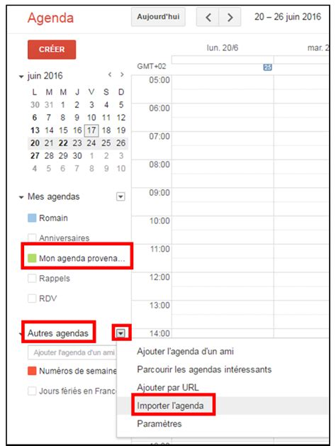 Calendrier Gmail Dans Outlook Importer Des Agendas Entre Outlook Et Gmail