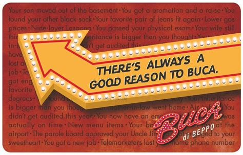 Buca Gift Card - 10 buca di beppo gift card china wholesale 10 buca di beppo gift card