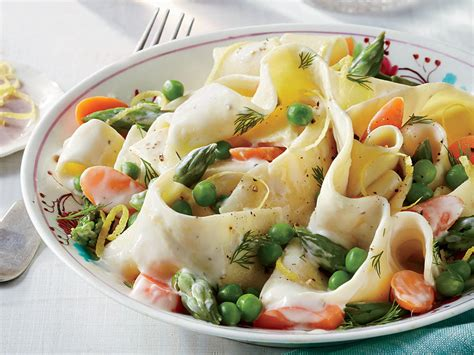 Light Green Veggie Pasta For Dinner by A Salute To Peas Cooking Light