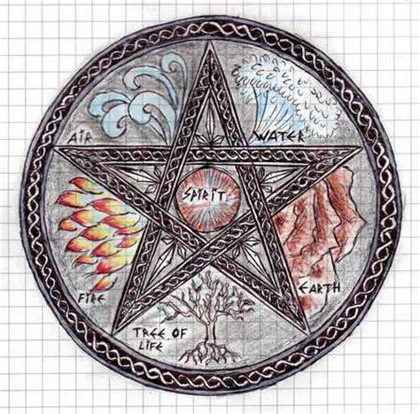 wiccan elemental pentagram fantasy abstract background