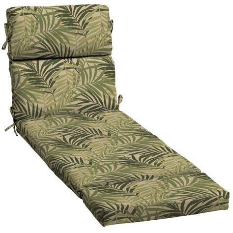 garden treasures chaise lounge shop garden treasures tropical cushion for chaise lounge