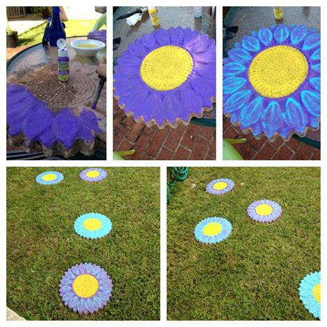 glow in the paint stepping stones pin by tess degange on garden