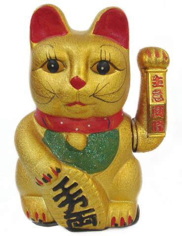 Feng Shui Livingroom Lucky Cat Statue