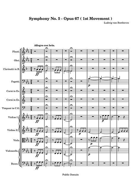 Sinfonía n.º 5 (Symphony No. 5) 1. Allegro con brio