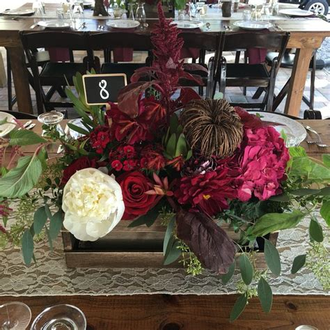 Wood Wine Crates Wine Colored Crate Centerpiece Fall Inspired The White
