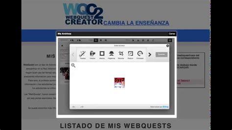 tutorial de webquest tutorial webquest creator 2 parte 1 youtube