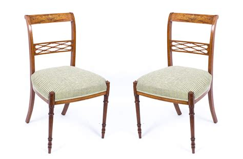 pretty satinwood inlaid bedroom chair antique chairs hemswell antique centres antique pair satinwood sheraton revival side chairs c 1880