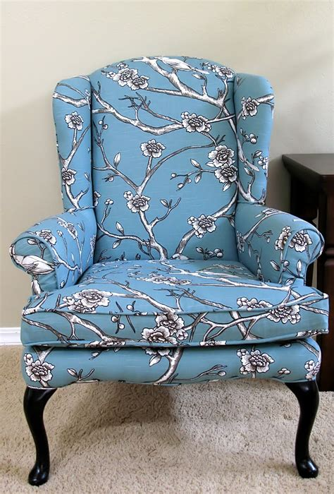 Upholstery Ideas For Wing Chairs by Modest Maven Vintage Blossom Wingback Chair