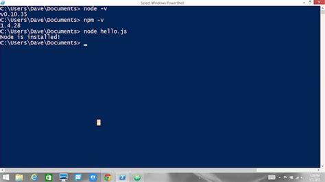 installing nodejs174 and npm on windows