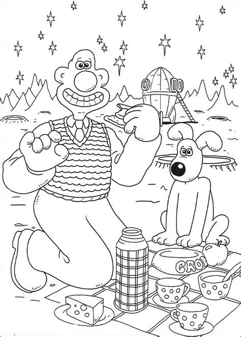 coloring pages wrong wallace and gromit coloring pages