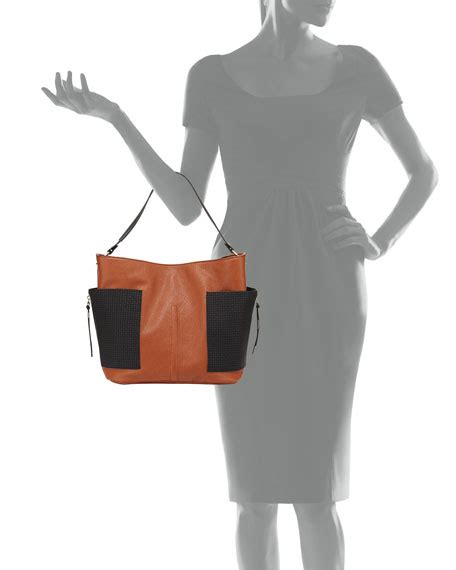Tocca Celia Shoulder Tote On Sale by Neiman Celia Two Tone Faux Leather Tote Bag Camel