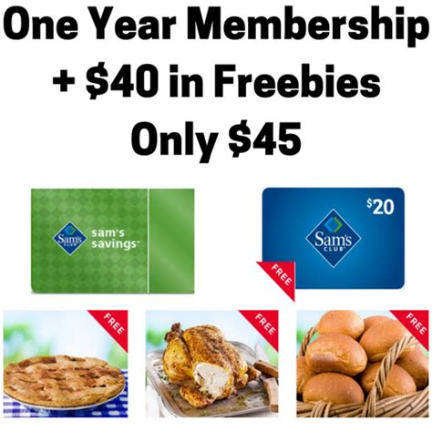 Does Sams Club Have Gift Cards - sam s club membership 20 gift card 19 94 in free groceries only 45