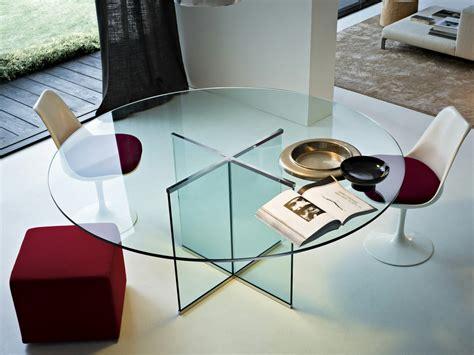 tavoli in cristallo rotondi tavolo in cristallo eros tavolo rotondo by gallotti radice