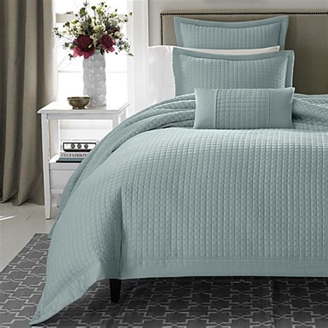 real simple bedding real simple 174 retreat duvet cover in azure bed bath beyond