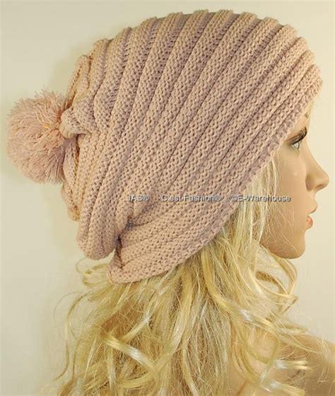 rasta beanie knitting pattern knit hat cap beanie slouchy baggy rasta pom pom ribbed ebay