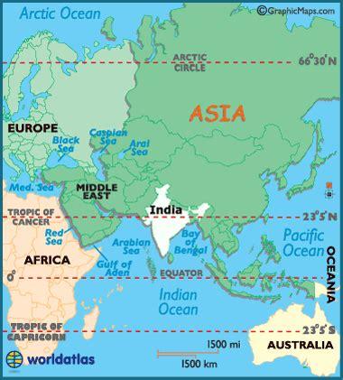 india latitude, longitude, absolute and relative locations
