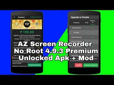 screen recorder apk no root az screen recorder no root v4 8 2 3 premium unlocked apk mod 2018