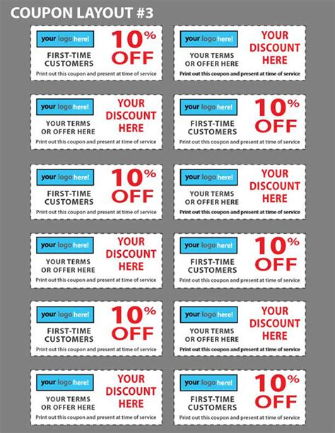 Business Coupon Template custom coupon templates for your business on behance