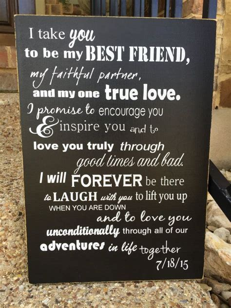 Custom Wedding Vows ~ I Take You To Be My Best Friend