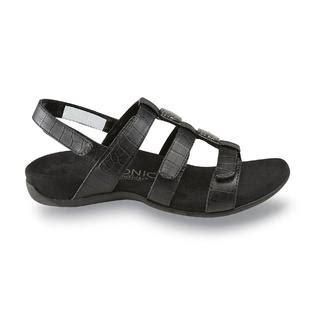 vionic s black ankle comfort sandal wide width available