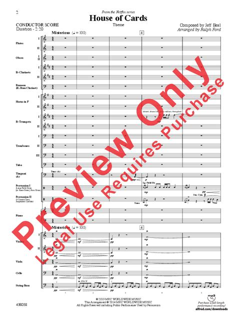 house of cards music score house of cards theme additional score by j w pepper