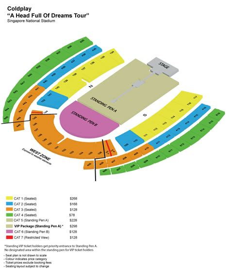 singapore national stadium seating plan coldplay to play in singapore on april 1 at national