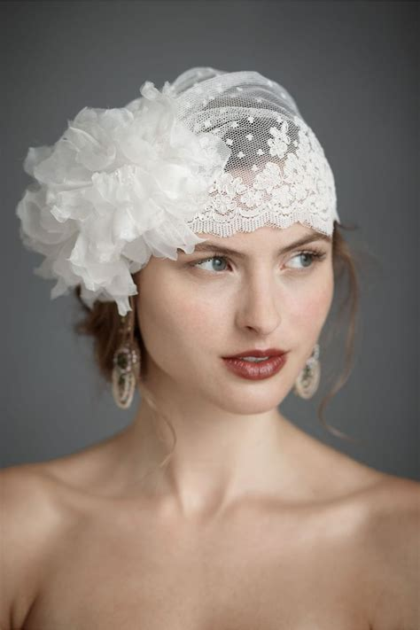 Bridal Headpieces by Wedding Veils Bridal Headpieces Ivory Vintage Bhldn