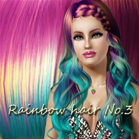 the sims 3 haircolors rainbow hair no 3 by bludickamarky the exchange