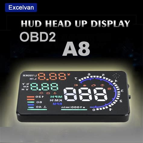 Head Up Display Auto by Aliexpress Buy Excelvan A8 5 5 Quot Auto Car Head Up
