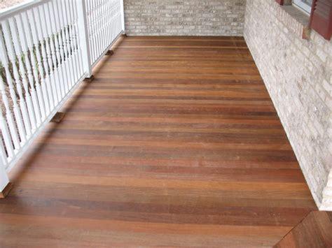 Composite Porch Flooring by Custom Made Decks Using Cedar Composite Materials
