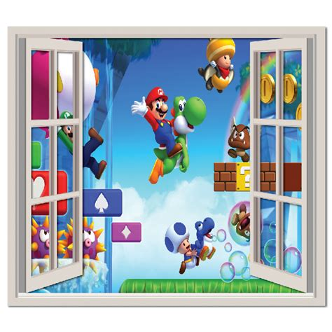 mario brothers wall stickers mario brothers wall sticker window wall decal