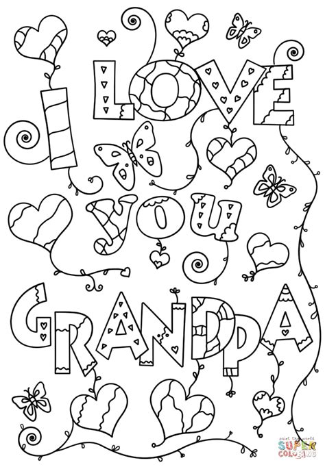 i love you great grandma coloring pages i love you grandpa coloring page free printable coloring